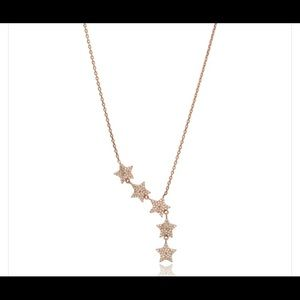 Jewelry - Gold over Sterling Silver FALLING STARS NECKLACE